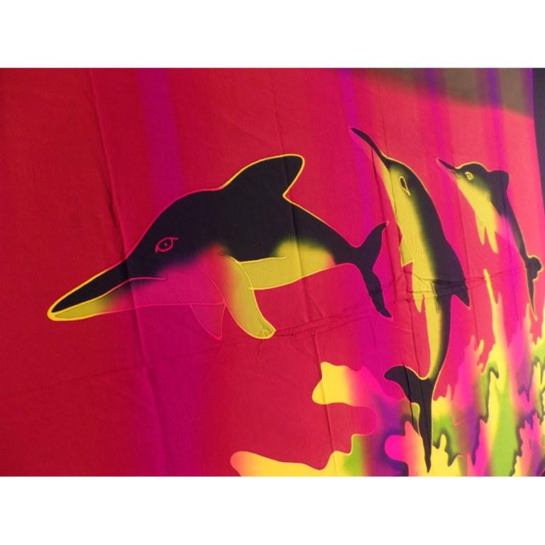 Tenture/paréo les 3 dauphins