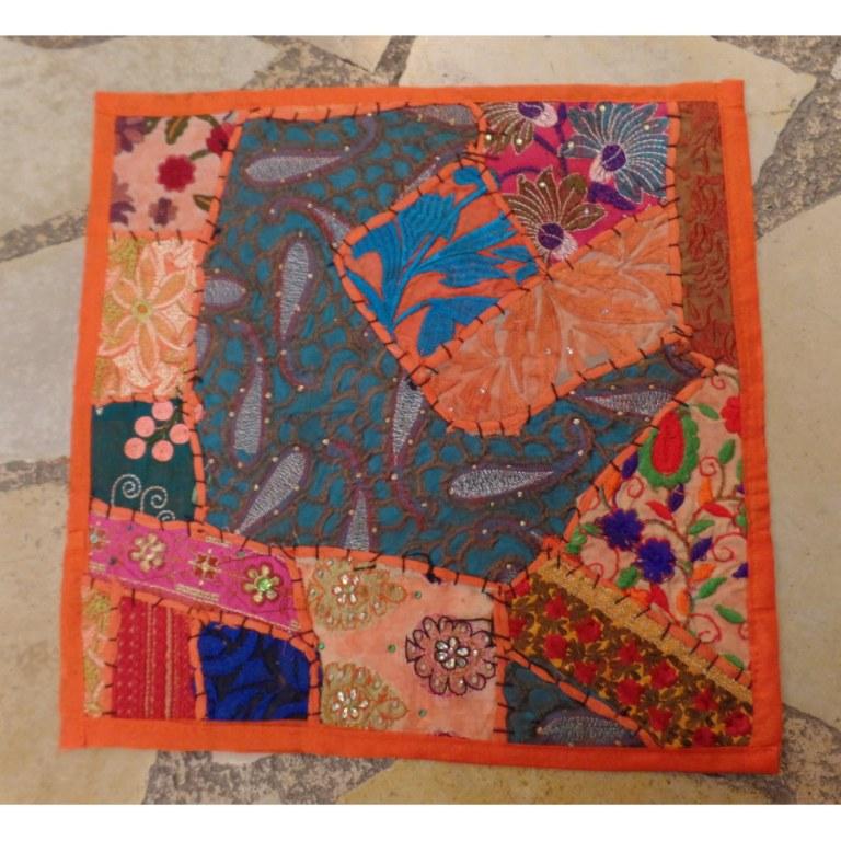 Housse carrée Jammu clémentine