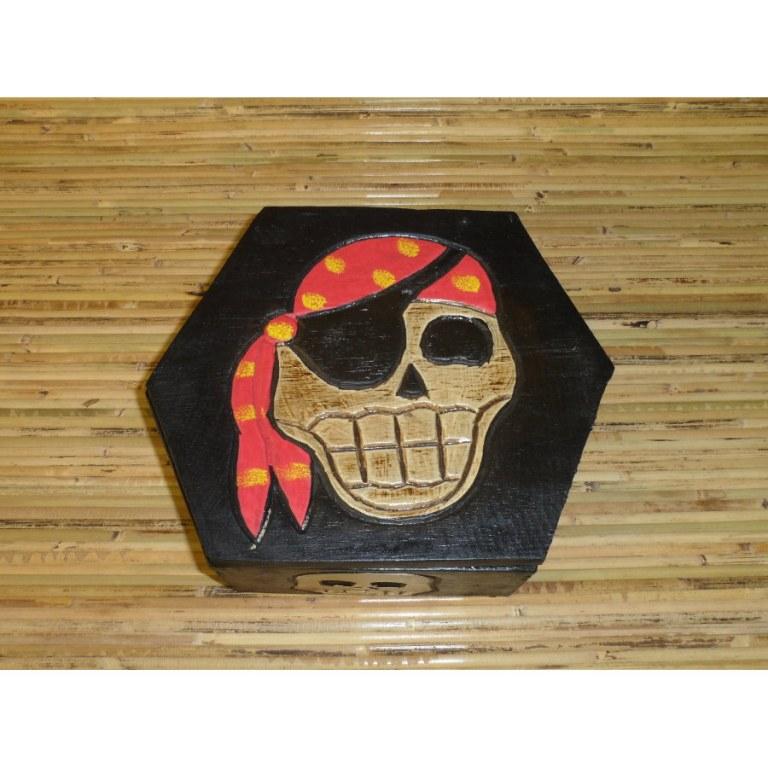 Boîte hexagonale pirate