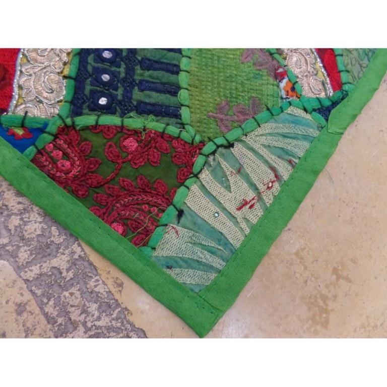 Housse carrée Jammu vert menthe