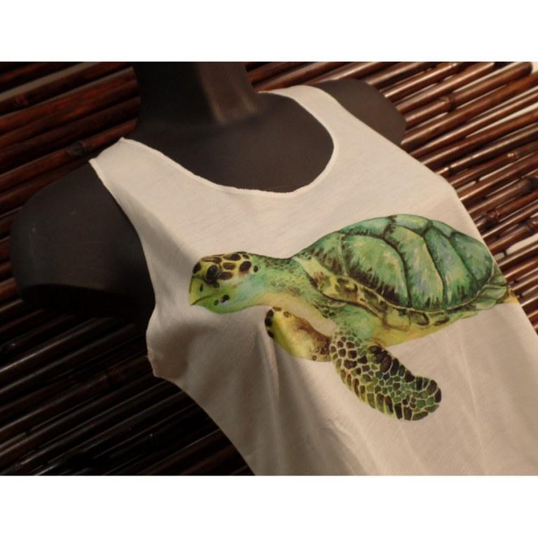 Débardeur tortue verte