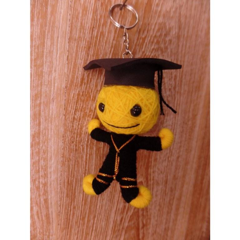 Porte clés big diplomé américain jaune