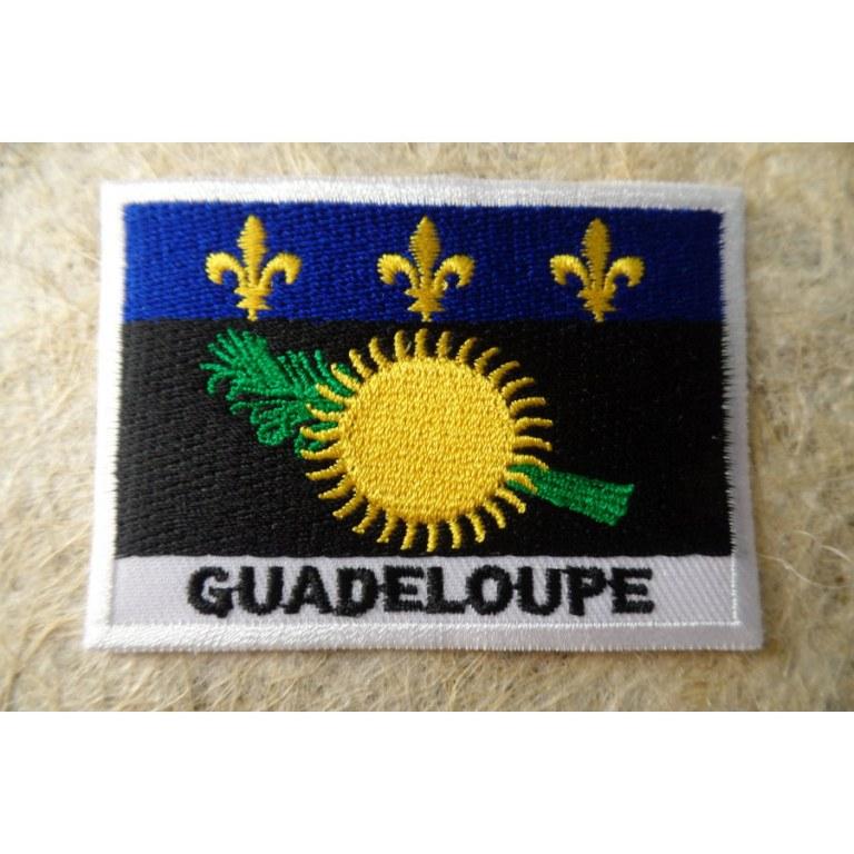 Ecusson drapeau Guadeloupe