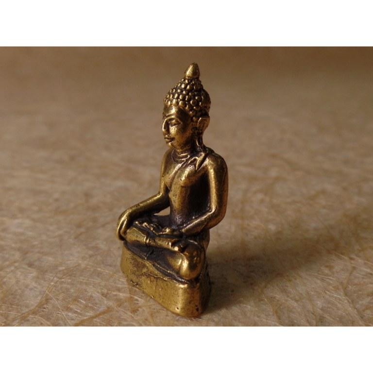 Bouddha doré prenant la terre à témoin