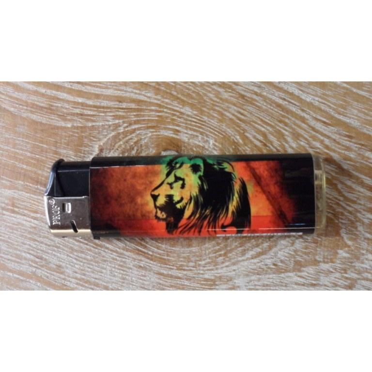 Briquet rasta style lion