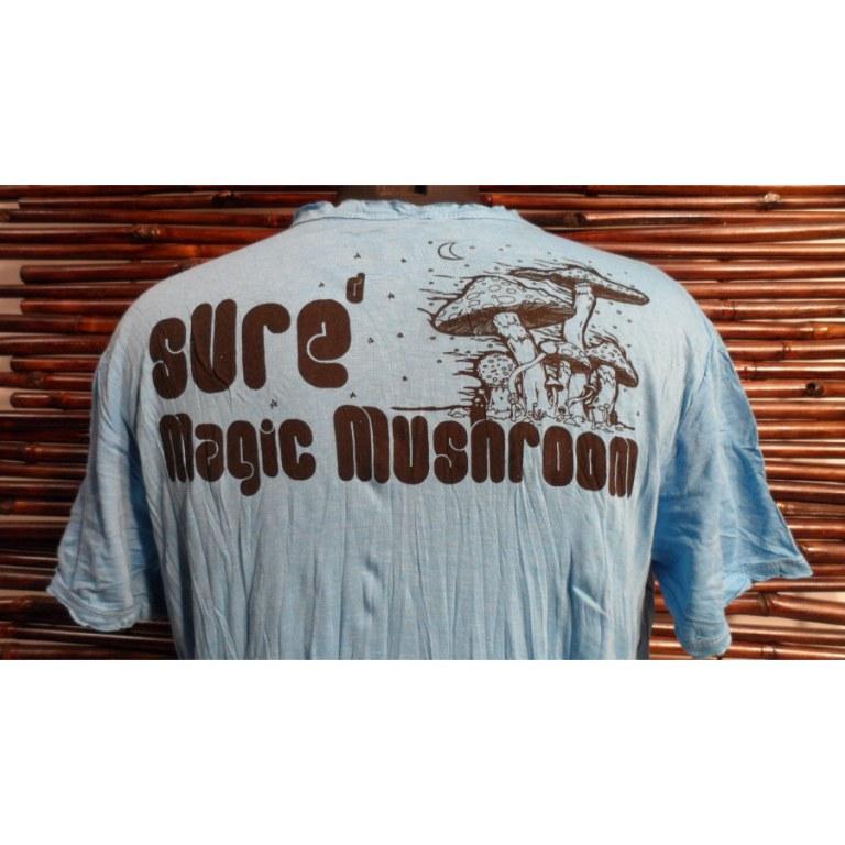 Tee shirt bleu magic mushroom