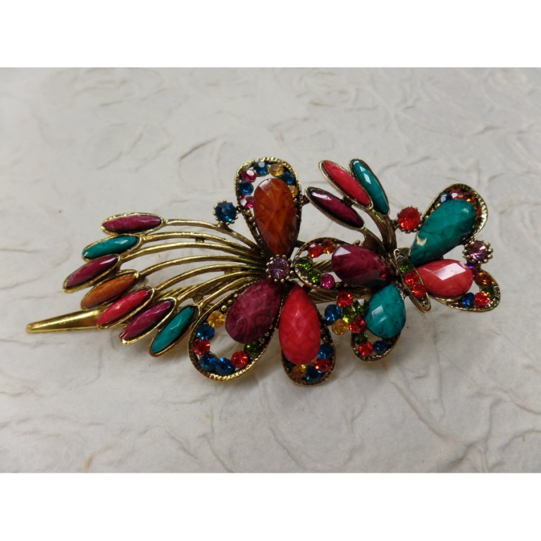 Pince strass butterfly color