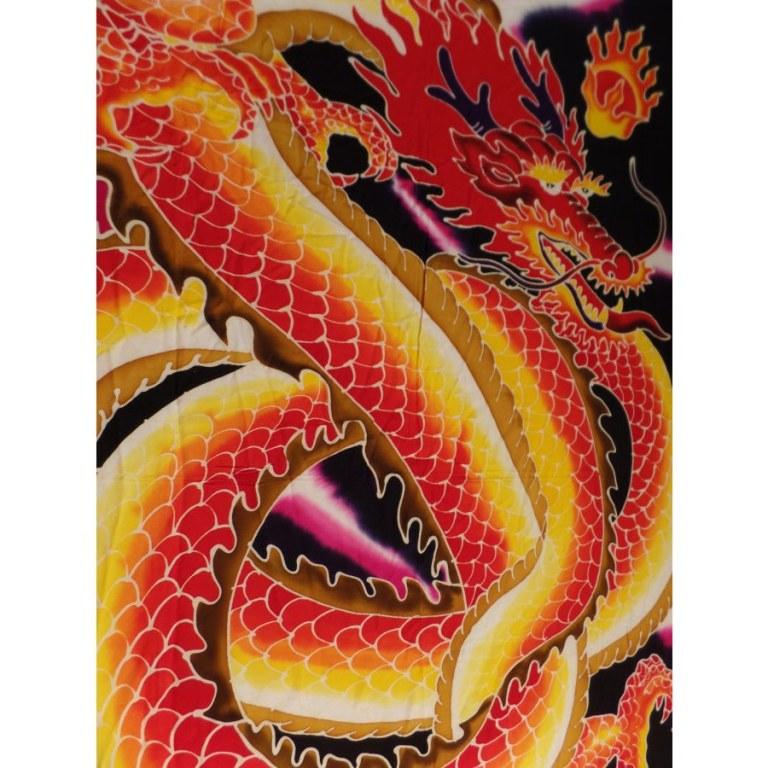 Paréo new dragon rouge et jaune
