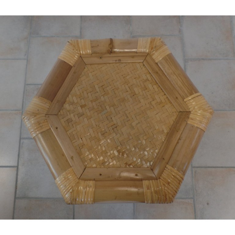 Tabouret haut hexa bambou