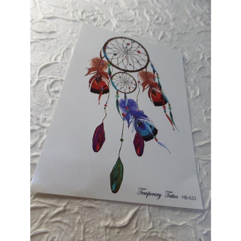 Tatouage double attrape rêves color
