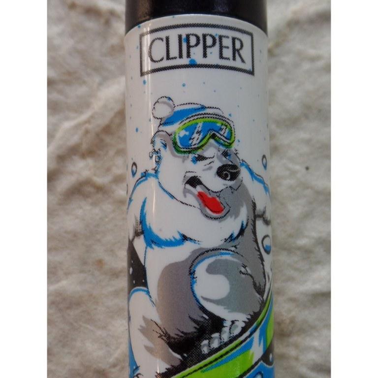 Briquet ours blanc sportif