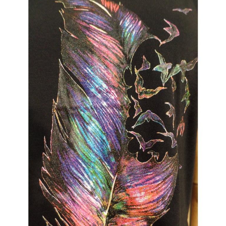 Débardeur plumes pastels
