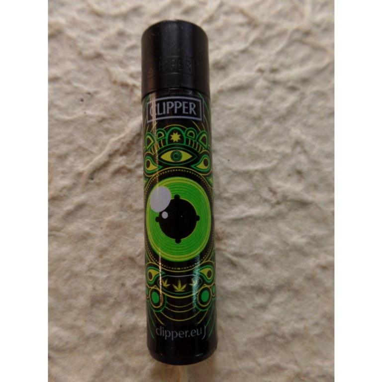 Briquet noir oeil vert