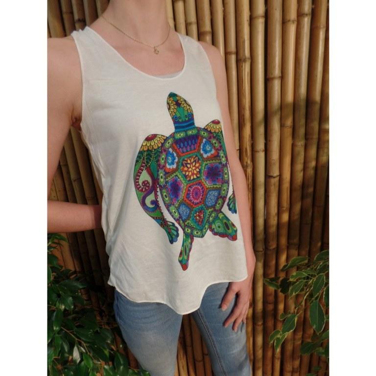 Débardeur tortue florale