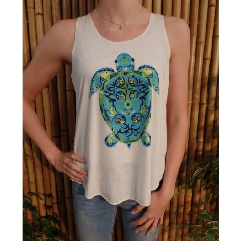 Débardeur tortue bleue
