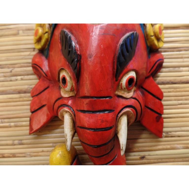 Masque carmin Ganesh