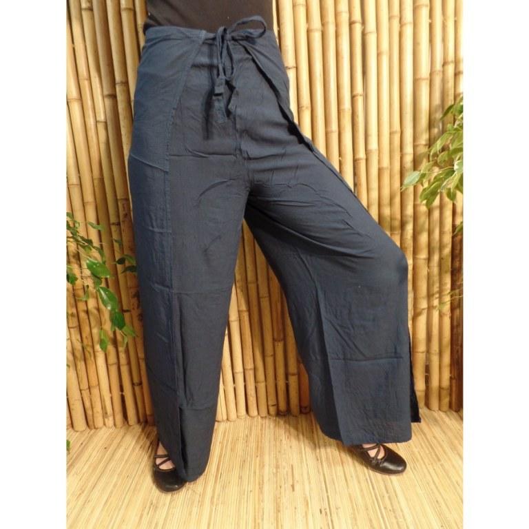 Pantalon paréo bleu sombre
