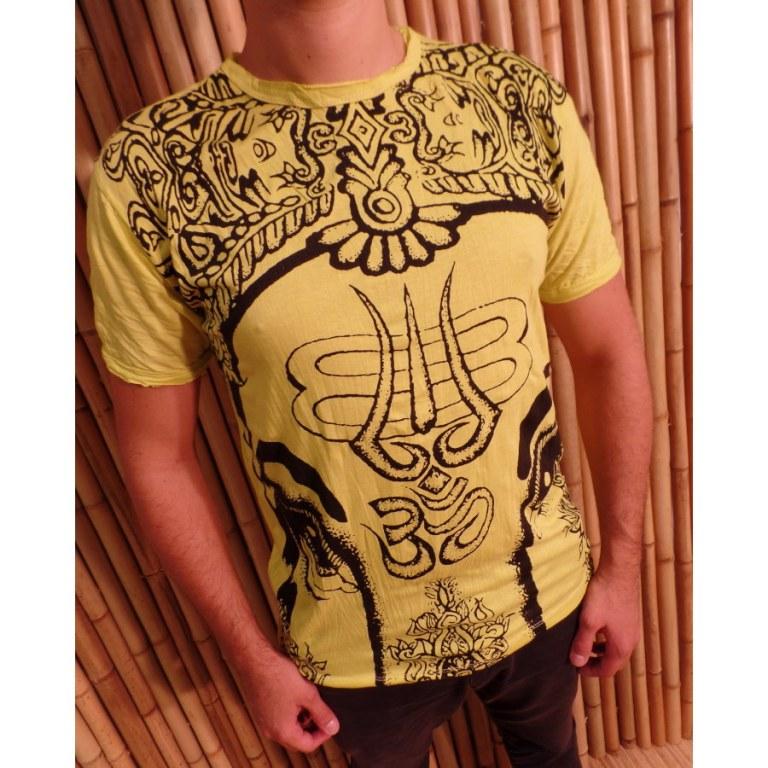 Tee shirt jaune éléphant aum