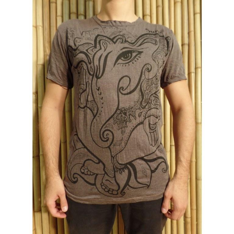 Tee shirt marron little Ganesha