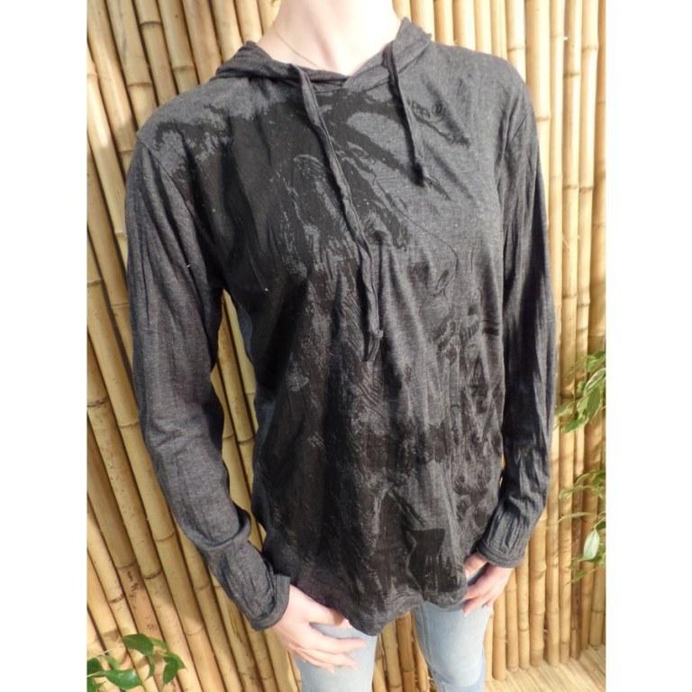 T shirt gris Bob Marley fumant