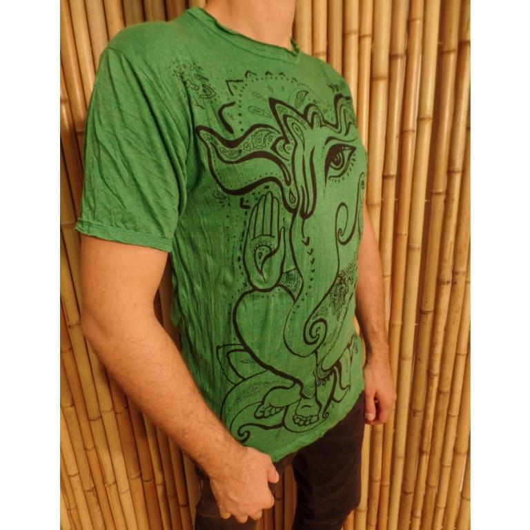Tee shirt little Ganesha vert