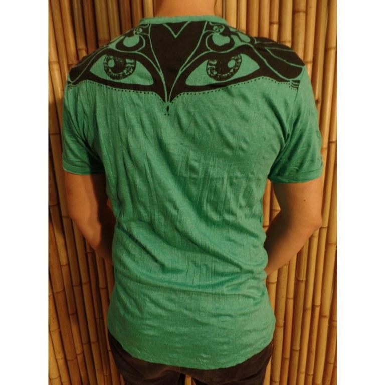 Tee shirt vert Bouddha eyes