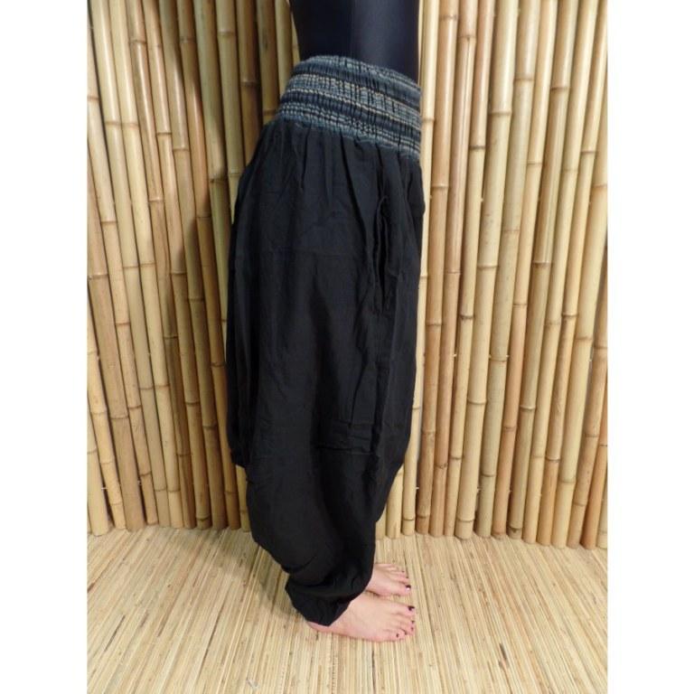Pantalon smocks Karnali noir