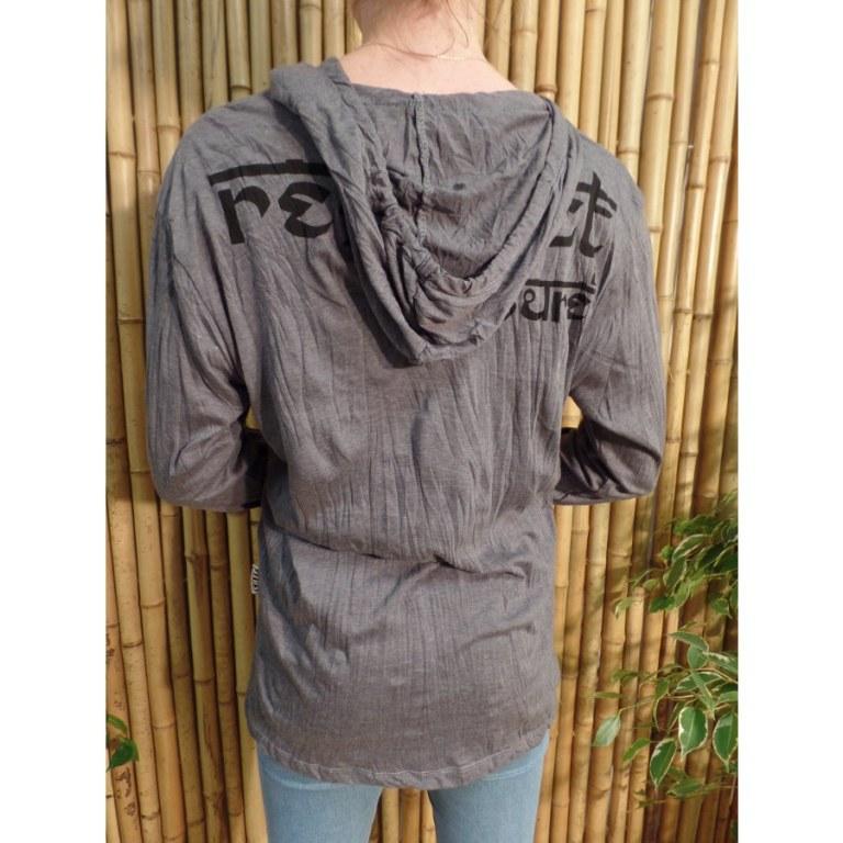 T shirt Shiva gris