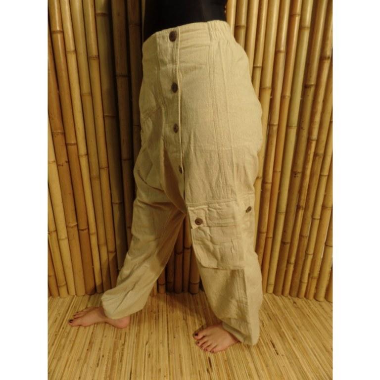 Pantalon baba tchik écru