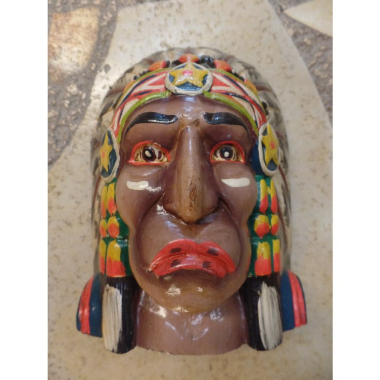 Petit masque chef Indien