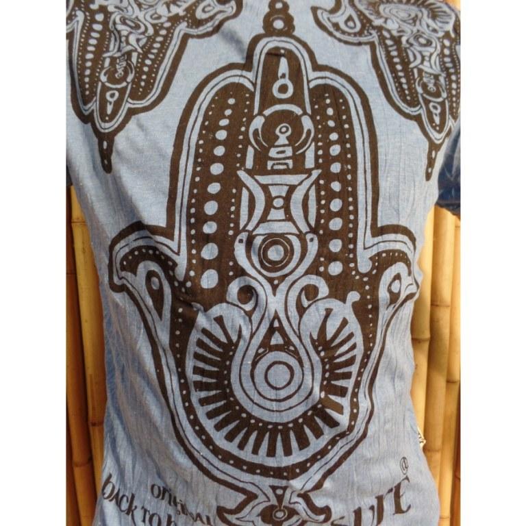Tee shirt bleu khamsa