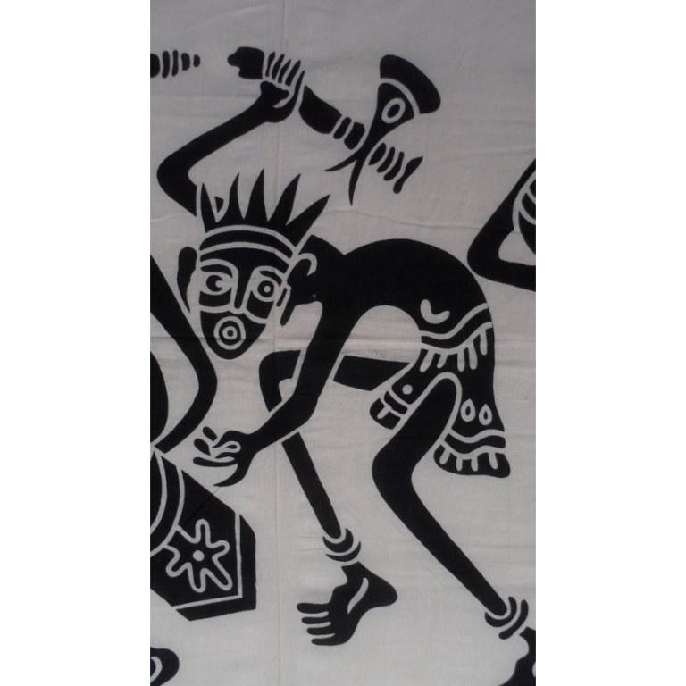 Maxi tenture black & white danse tribale