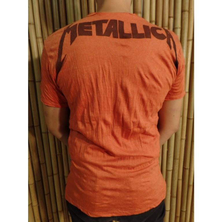 Tee shirt orange Métallica