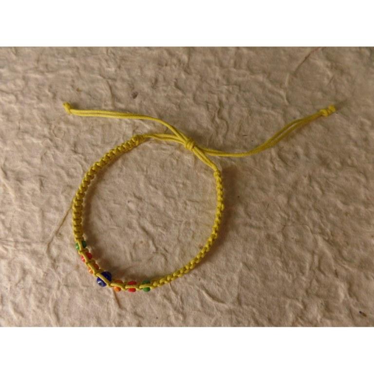 Bracelet jaune oeil
