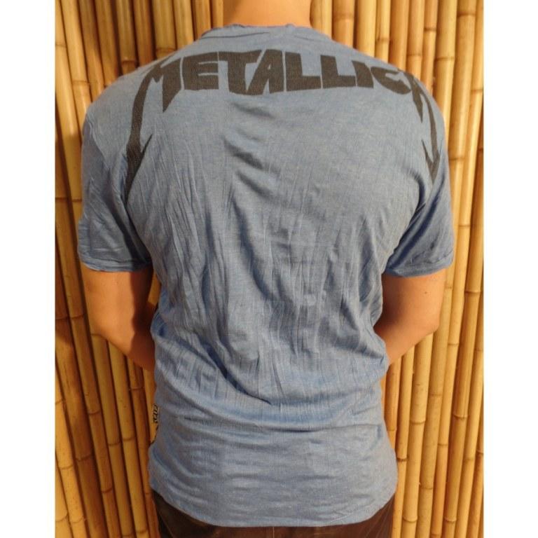 Tee shirt bleu Métallica