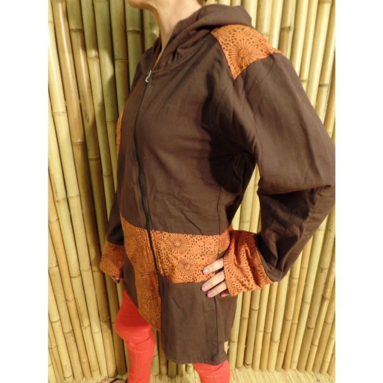 Veste marron/orange lovely