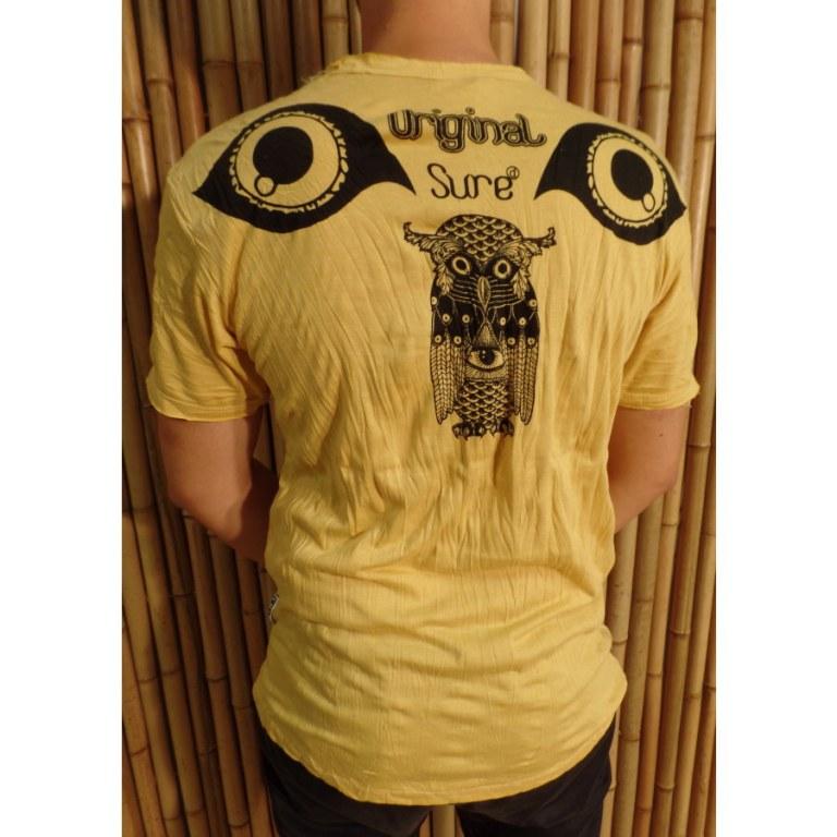 Tee shirt jaune vif chouette enigma