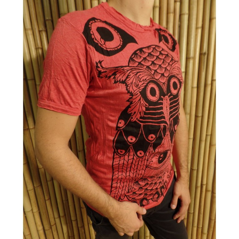 Tee shirt rouge chouette enigma