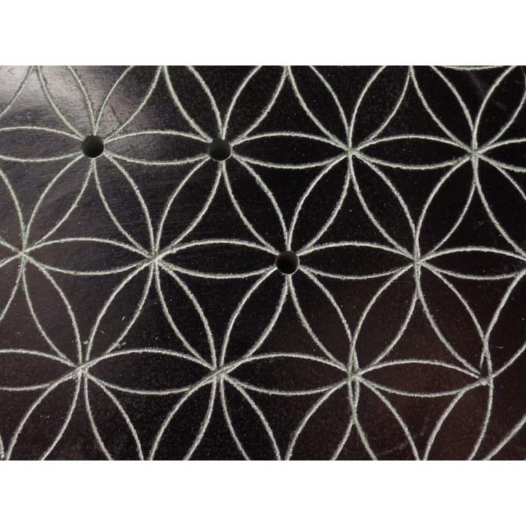 Porte encens noir/gris fleur de vie