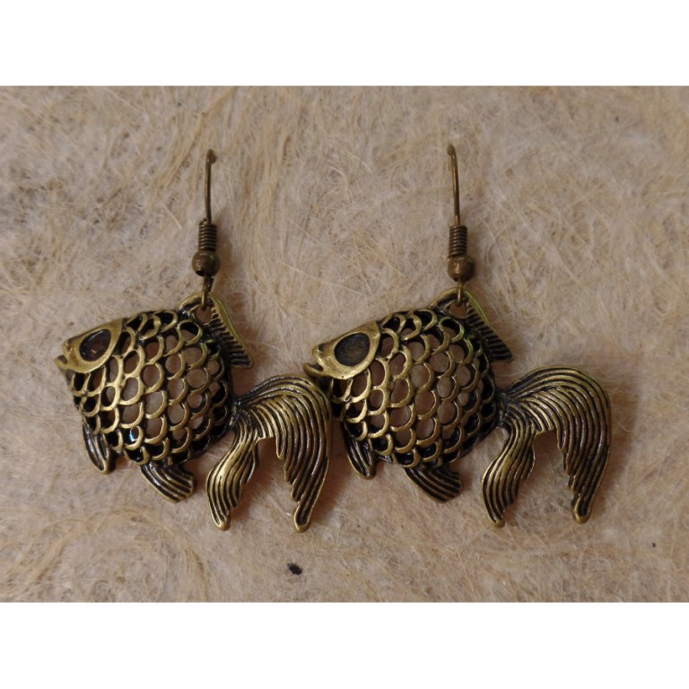 Boucles d'oreilles poisson