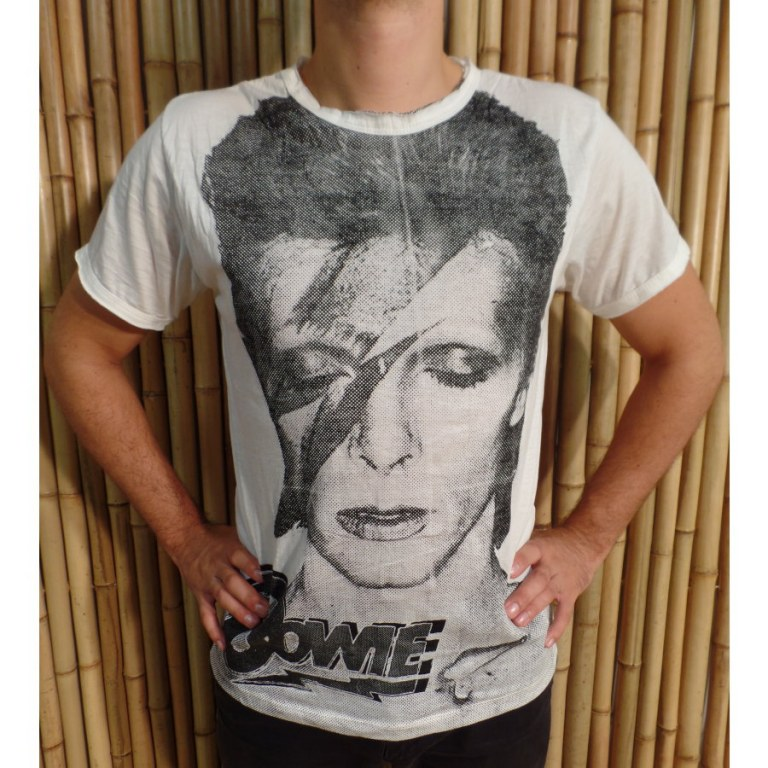 Tee shirt David Bowie blanc