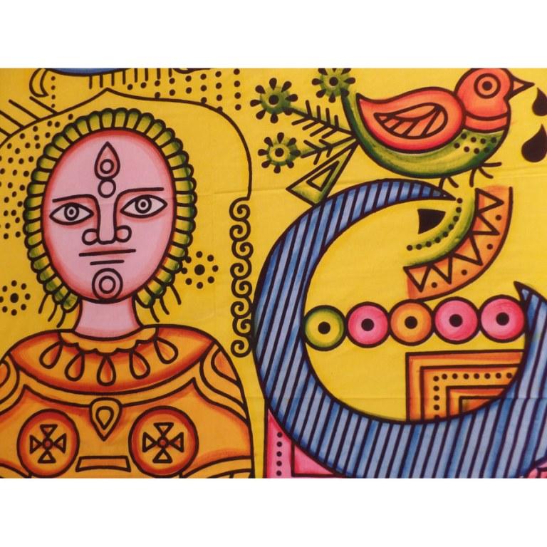 Tenture maxi space soleil multicolore