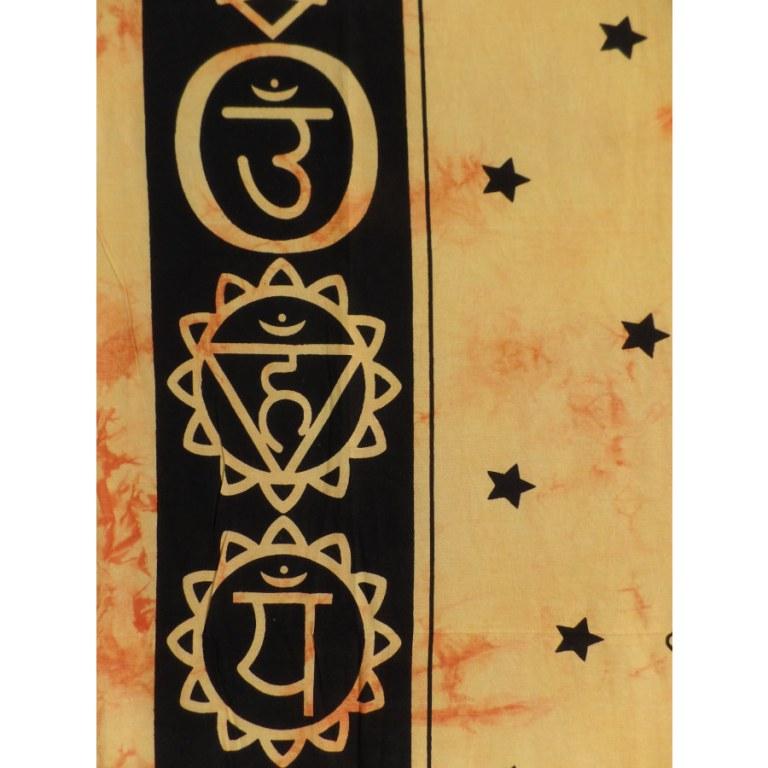Tenture maxi orange 7 chakras
