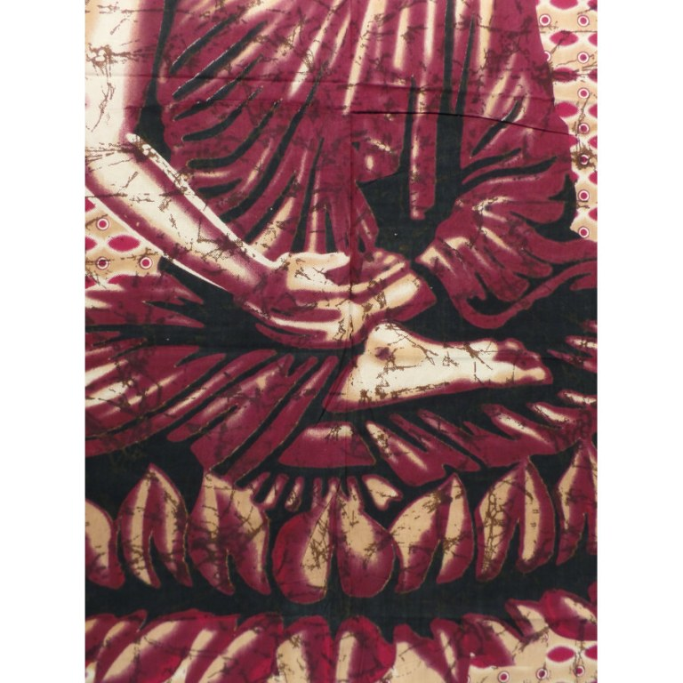 Grande tenture Buddha zen bordeaux