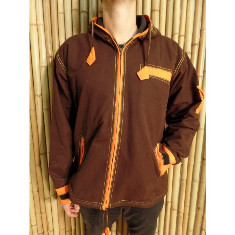 Veste Népalita marron/orange