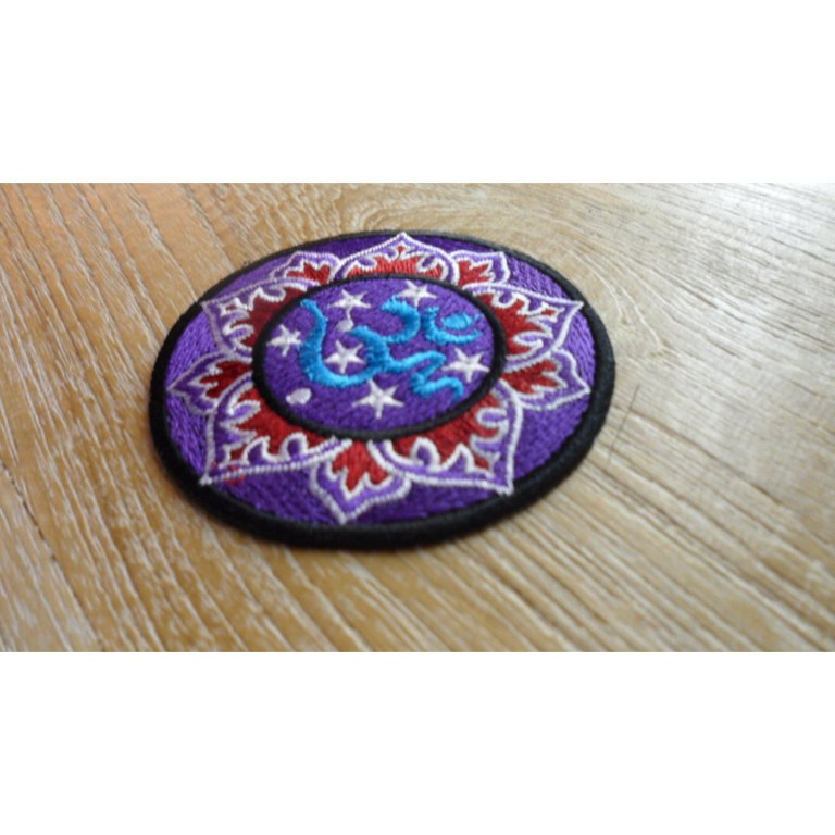 Patch Aum lotus mauve