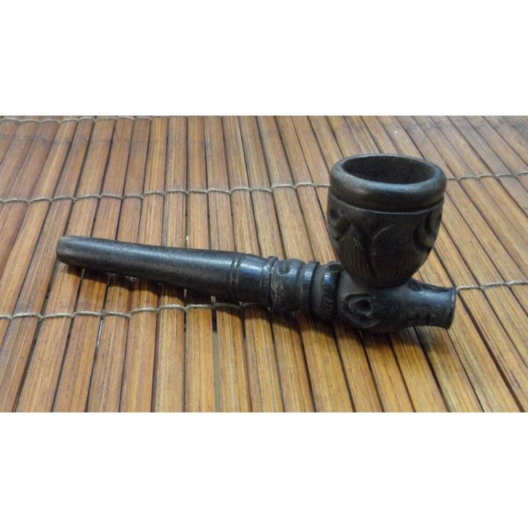 Petite pipe gravée noir 3