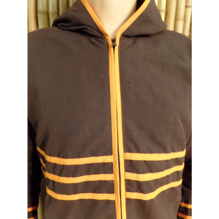 Veste spirale marron/orange