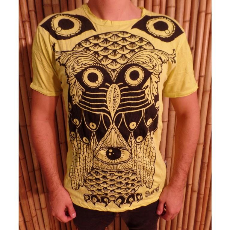 Tee shirt jaune chouette enigma