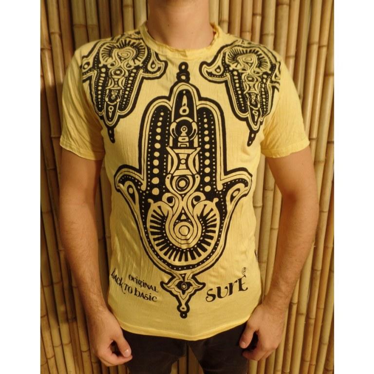Tee shirt jaune khamsa
